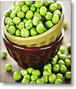 Green Peas Metal Print by Elena Elisseeva