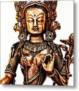 Green Tara Metal Print by Tim Gainey