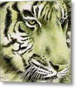 Green Tiger Metal Print by Summer Celeste