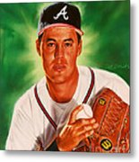 Greg Maddux Metal Print by Dick Bobnick