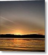 Grey Heaven - Sunrise Panorama Metal Print by Geoff Childs