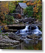 Grist Mill Falls Metal Print by Lone  Dakota Photography