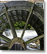 Grist Mill Wheel With Spillway Metal Print by Thomas Woolworth