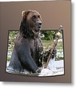Grizzly Bear 6 Out Of Bounds Metal Print by Thomas Woolworth