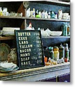 Groceries In General Store Metal Print by Susan Savad