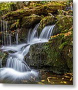 Grotto Falls Great Smoky Mountains Tennessee Metal Print by Pierre Leclerc Photography