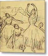 Group Of Dancers Metal Print by Edgar Degas