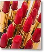 Group Of Red Lipsticks Metal Print by Garry Gay