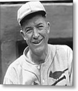 Grover Cleveland Alexander Leaning Smiling Metal Print by Retro Images Archive