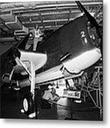 Grumman Eastern Aircraft Tbm 3e Tbm3e Avenger On The Hangar Deck At The Intrepid Air Space Museum Metal Print by Joe Fox