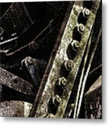 Grunge Industrial Machinery Metal Print by Olivier Le Queinec