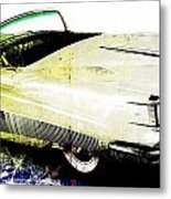 Grunge Retro Car Metal Print by David Ridley