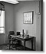 Guard Dining Area In Alcatraz Prison Metal Print by RicardMN Photography