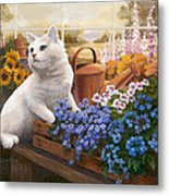 Guardian Of The Greenhouse Metal Print by Evie Cook