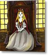 Guinefurre Cat Queen Metal Print by Tara Fly