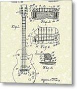 Guitar 1955 Patent Art Metal Print by Prior Art Design