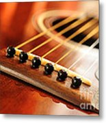 Guitar Bridge Metal Print by Elena Elisseeva