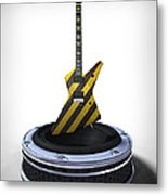 Guitar Desplay V3 Metal Print by Frederico Borges