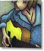 Guitar Man Metal Print by Kamil Swiatek