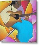 Guitar Player Metal Print by Sonya Walker