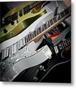 Guitars For Play Metal Print by David Patterson