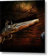 Gun - Pistol - Romance Of Pirateering Metal Print by Mike Savad