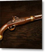 Gun - Us Pistol Model 1842 Metal Print by Mike Savad