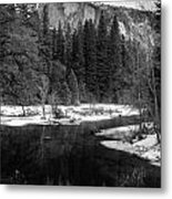Half Dome In Winter Metal Print by Karma Boyer
