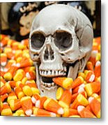 Halloween Candy Corn Metal Print by Edward Fielding