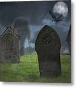 Halloween Graveyard Metal Print by Amanda And Christopher Elwell