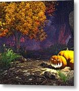 Halloween Pumpkins Metal Print by Marina Likholat