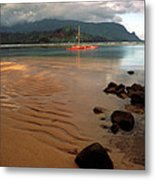 Hanalei Bay At Dawn Metal Print by Kathy Yates