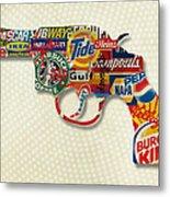 Handgun Logos Metal Print by Gary Grayson
