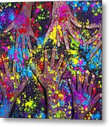 Hands Of Colour Metal Print by Tim Gainey