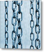 Hanged Chains Metal Print by Carlos Caetano