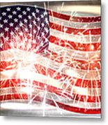 Happy Birthday America Metal Print by Li   van Saathoff