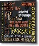 Happy Haunting Metal Print by Debbie DeWitt