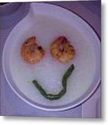 Happy Porridge Metal Print by Daniel Toh