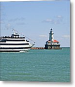 Harbor Light Chicago Metal Print by Christine Till