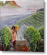Harvest At Dawn Metal Print by Michael Durst