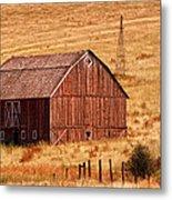 Harvest Barn Metal Print by Mary Jo Allen