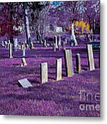 Haunted Cemetery Metal Print by Alys Caviness-Gober