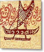 Hawaiian Canoe Metal Print by William Depaula