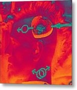 Hawk Cut Valentine 2012 Metal Print by Feile Case
