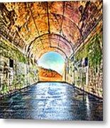 Hawk Hill Tunnel Metal Print by Robert Rus
