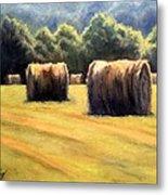 Hay Bales Metal Print by Janet King