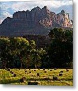 Hay Bales Rockville Utah Metal Print by Robert Ford
