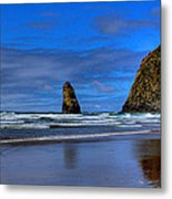 Haystack Rock And The Needles IIi Metal Print by David Patterson