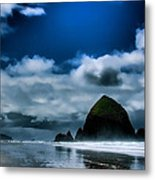 Haystack Rock IIi Metal Print by David Patterson