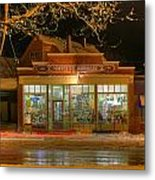 Hdr Moffett's Hardware Winter Sussex Night Metal Print by Jamie Roach